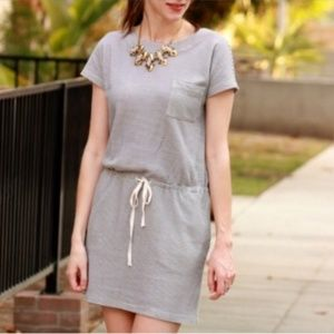SALE! Lou & Grey Drawstring Striped T-Shirt Dress